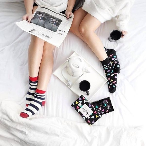 A Girls Night In With Happysocks A Cup Of Tea And Netflix Girls Night Happy Socks We Love Each Other