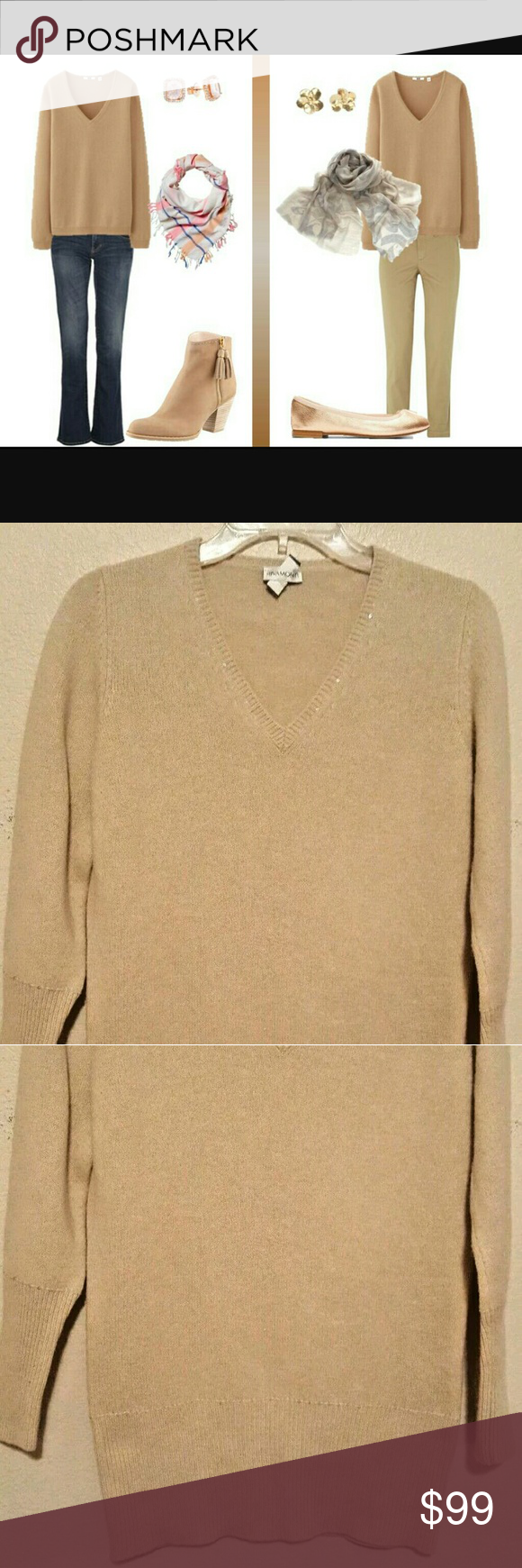 Rivamonti by Brunello Cucinelli wool v-neck sweate Gorgeous and very classy v-neck sweater.  Very warm.  Can be worn in many different ways. Brunello Cucinelli Sweaters V-Necks