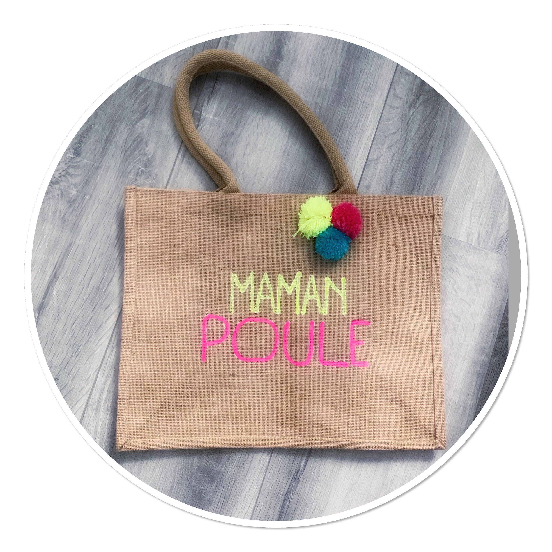Sac Jute Personnalise Etsy Purses And Bags Handmade