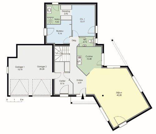 Maison Contemporaine   Détail Du Plan De Maison Contemporaine | Faire  Construire Sa Maison
