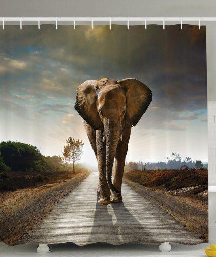 Amazon Com Wildlife African Safari Decor Giraffe And Animals Art For Bathroom Decorations Kids Teens Wild Jungle Elephant Wallpaper Animal Wallpaper Elephant