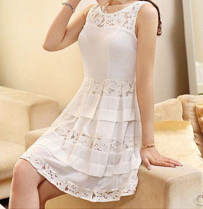 Slim chiffon dress