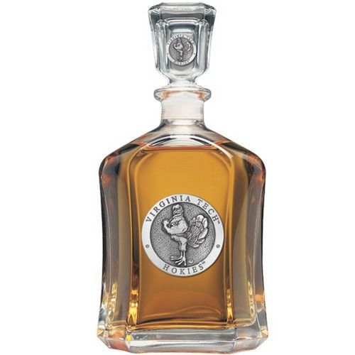 Virginia Tech VT Hokies Decanter Liquor Display Bottle