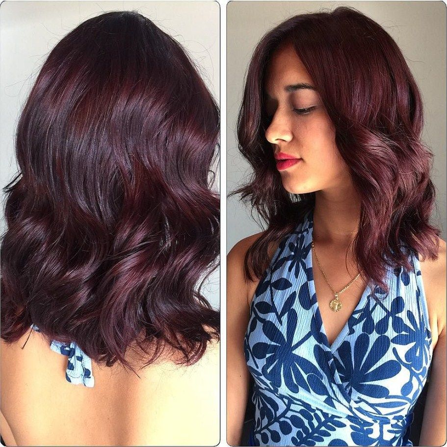 50 Glamorous Dark Purple Hair Color Ideas — Destined to ...