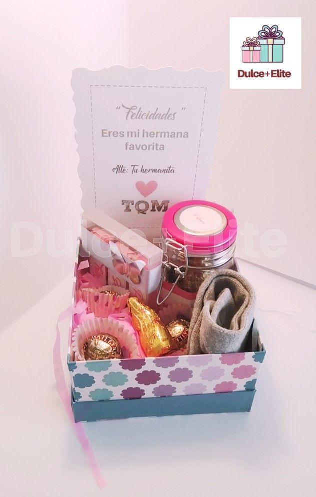 Caja de regalo caja personalizada regalo hermana dia de - Regalos navidad mama ...