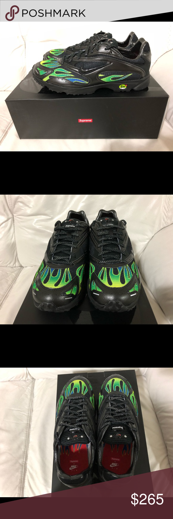 quality design 373a4 15d33 Supreme X Nike Zoom Streak Spectrum Plus Black New Supreme X Nike Zoom Streak  Spectrum Plus Black   Volt Men s Size 9.5. SS18 New w  Box and E…   Style