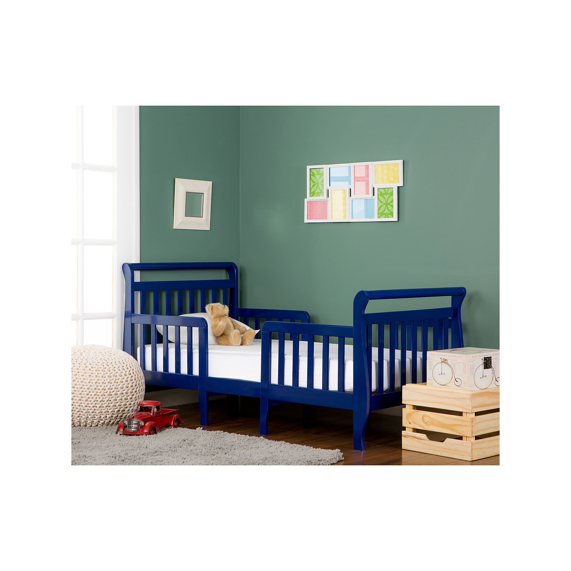 Dream On Me Emma 3 In 1 Convertible Toddler Bed Blue