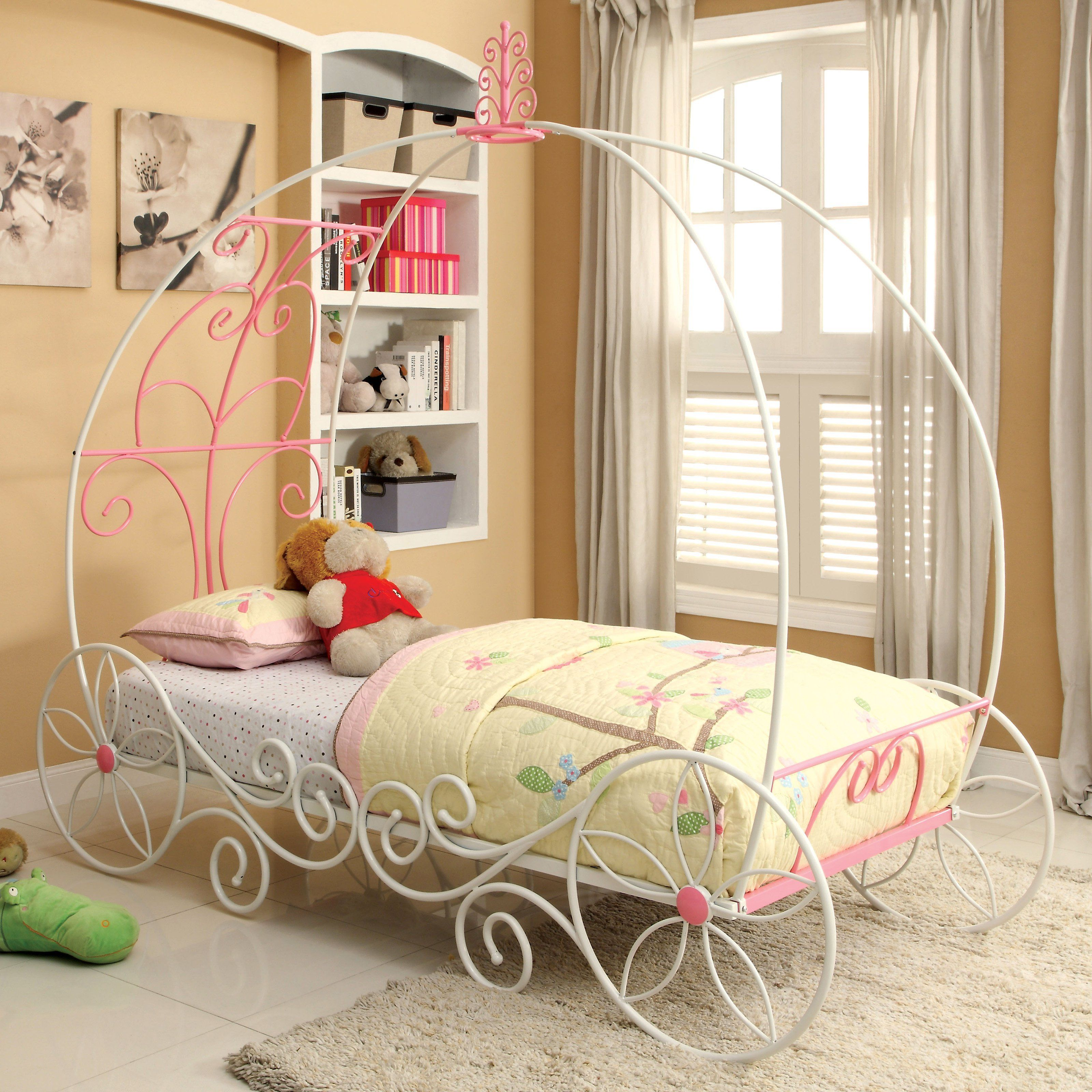 Furniture of America Charmante Carriage Bed Princess