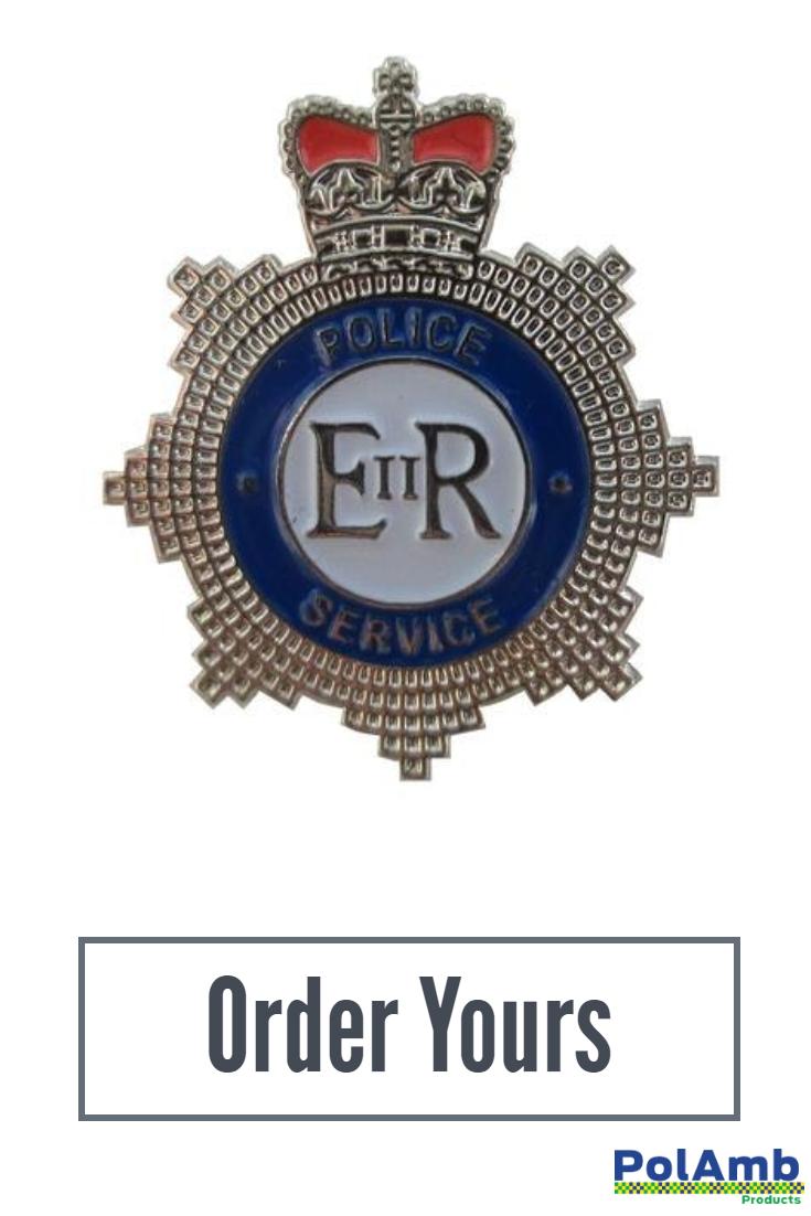 Police Service Crown Metal Tie Pin Lapel Badge Lapel Pins Tie Pin Pin Badges
