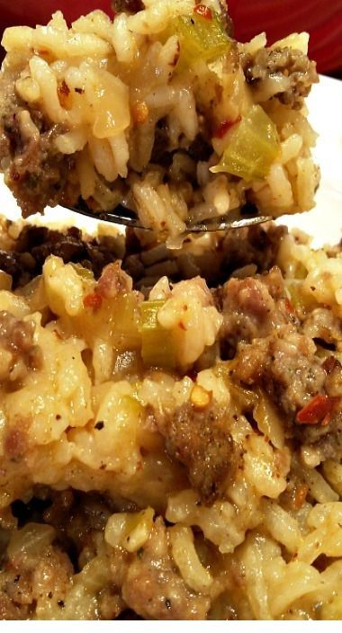 Sausage and Rice Casserole | Resepipalingsedap #dishesfordinner