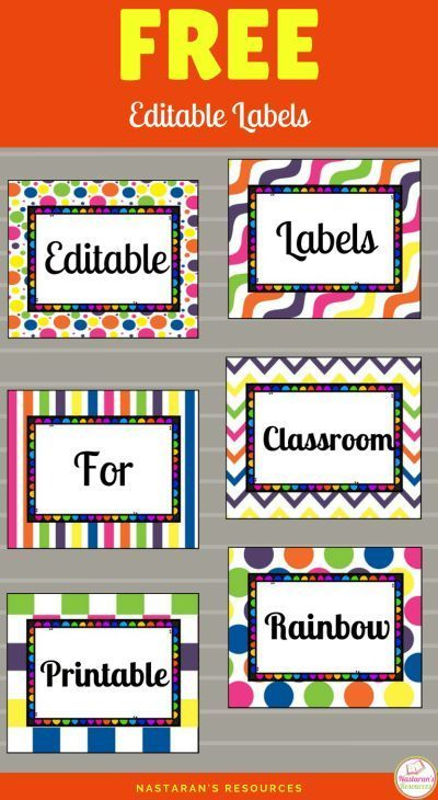 image relating to Free Printable Classroom Labels for Preschoolers called No cost Printable and Editable Labels For Clroom training