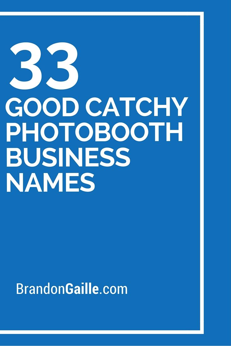 Wedding Photography Business Names: 125 Good Catchy Photobooth Business Names