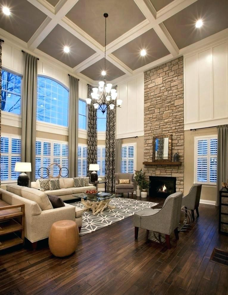 stone fireplace pictures high ceilings floor to ceiling ...