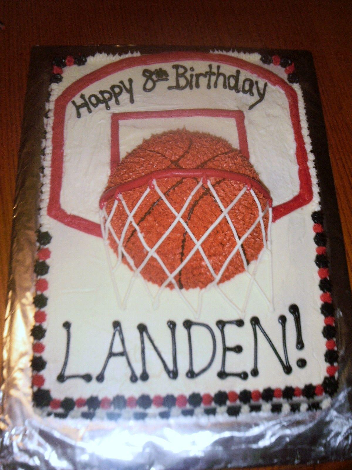 Basketball Cake Boy birthday cake, Basketball birthday