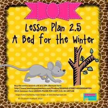 A Bed For The Winter Editable Lesson Plan Lesson Plan Format
