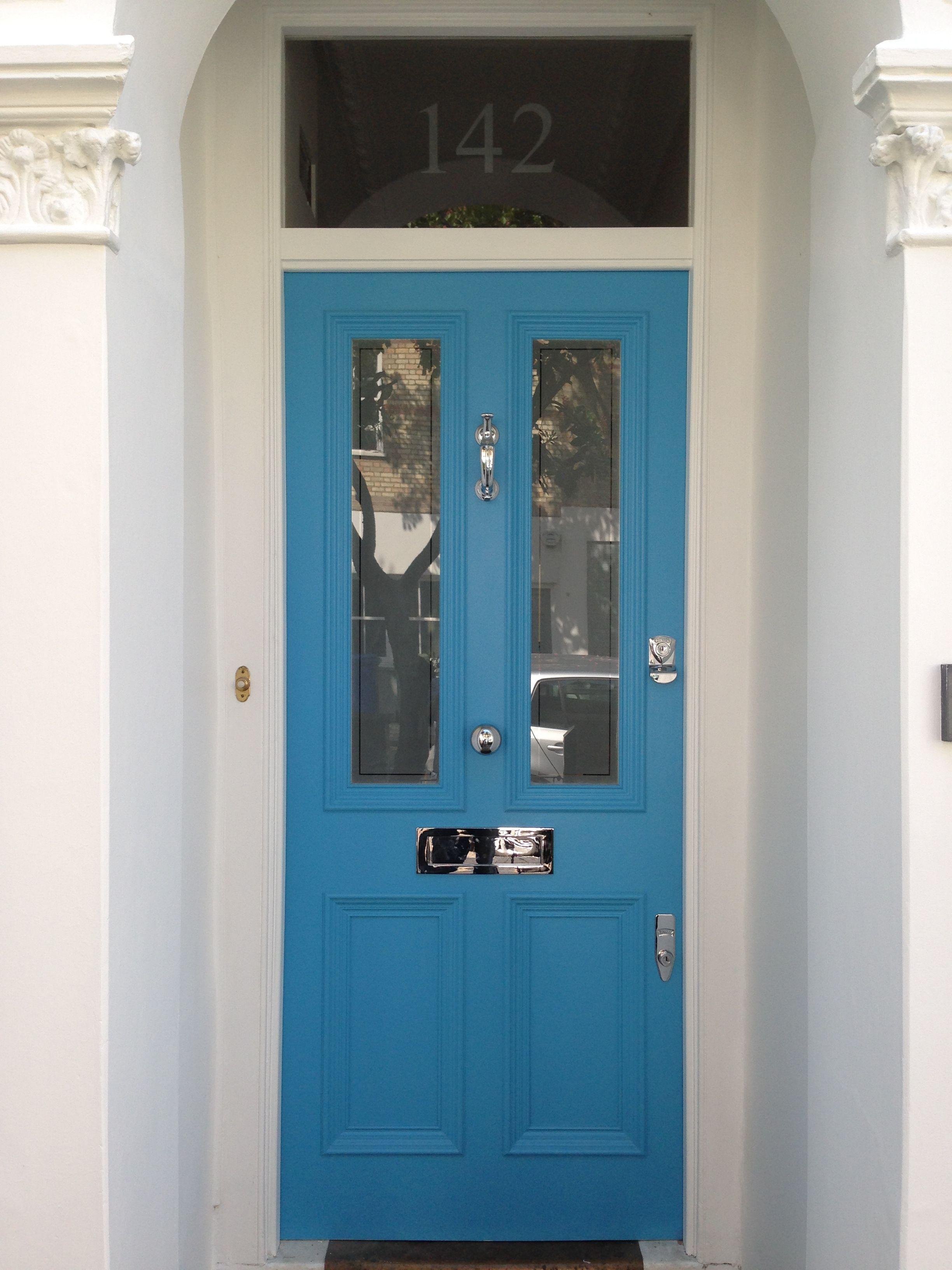 Blue Victorian Front Door In London Victorian Front Doors Craftsman Style Front Doors Painted Front Doors