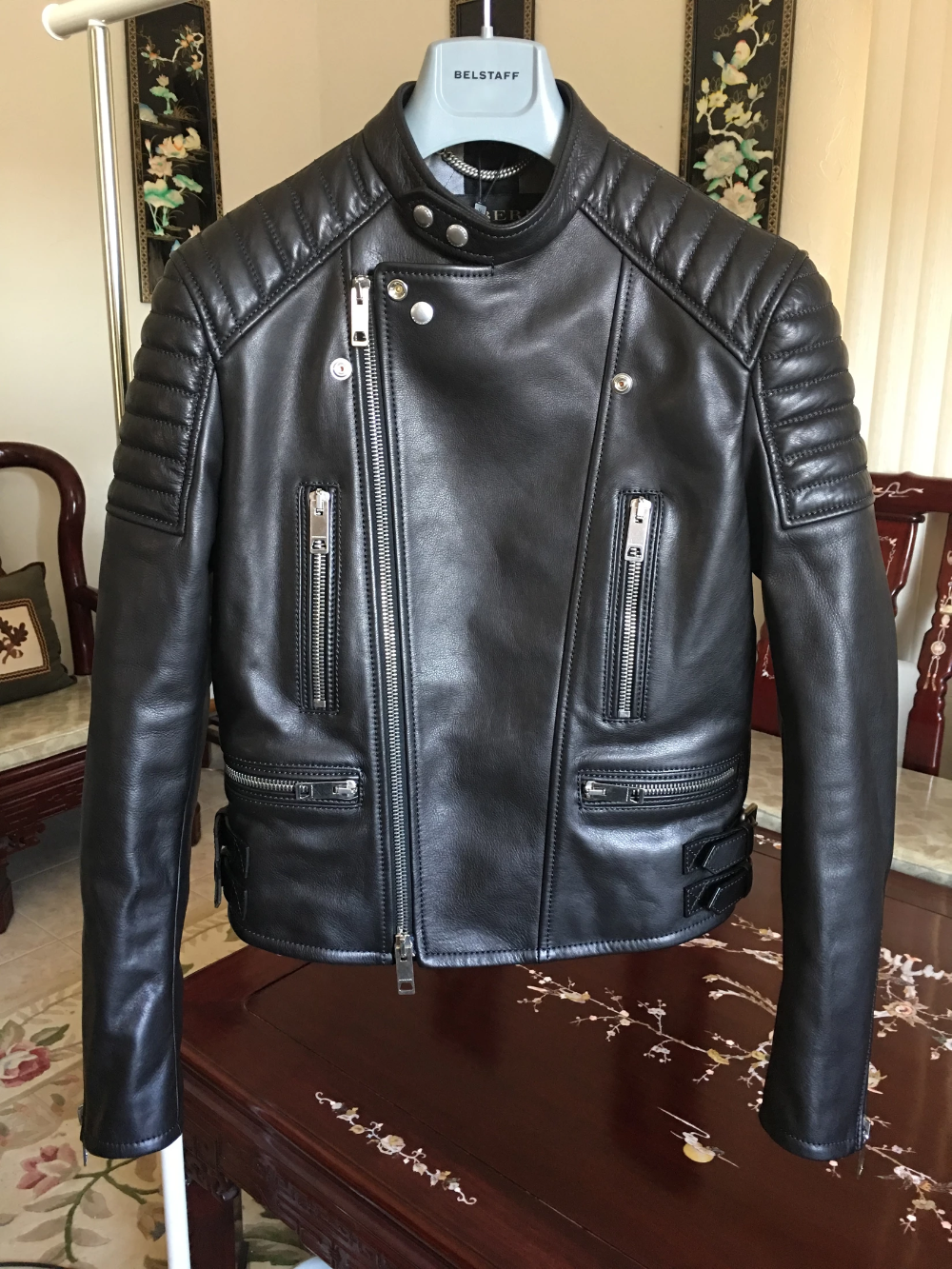 Burberry Prorsum One Of A Kind Runway Channel Quilted Calfskin Leather Motorcycle Biker Leather Jacket Outfit Men Leather Jacket Men Mens Leather Jacket Biker [ 1333 x 1000 Pixel ]