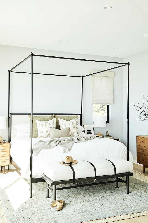 farmhouse canopy bed frame