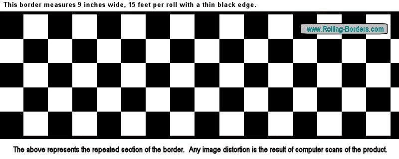 Nascar Checkered Flag Prepasted Wall Border Roll: 9#034;Checkered Wallpaper Border NASCAR Car Diner Racing