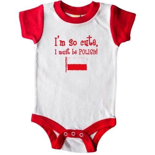 7b9fbfed3c23 Inktastic So Cute Polish Infant Creeper Baby Bodysuit Im Poland Flag ...
