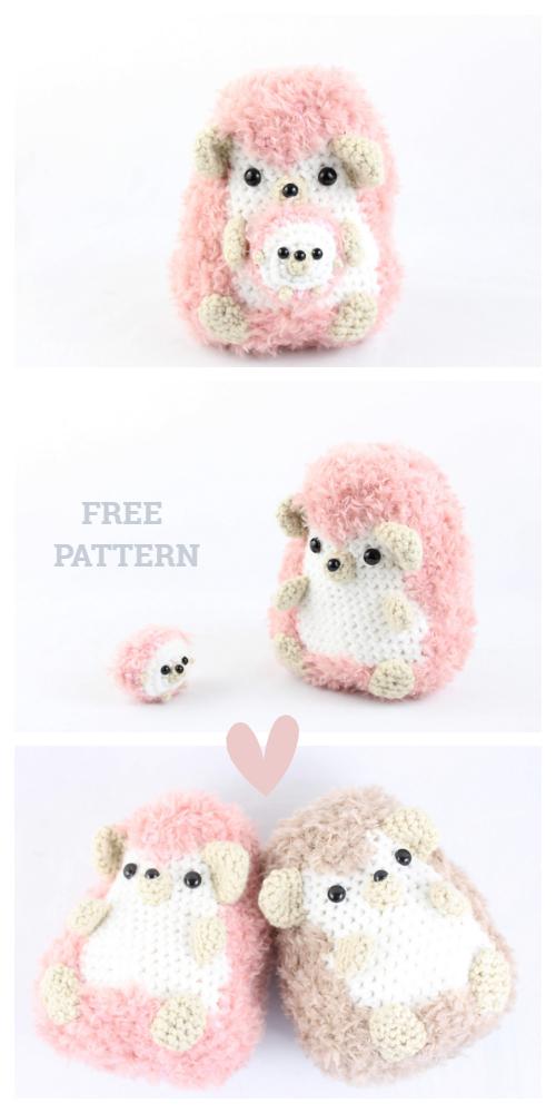 Crochet Hedgehog Punk Plush Toy Amigurumi Free Patterns