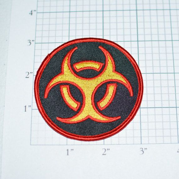 Biohazard Beautiful Red Yellow Black Vintage by AwesomeWares