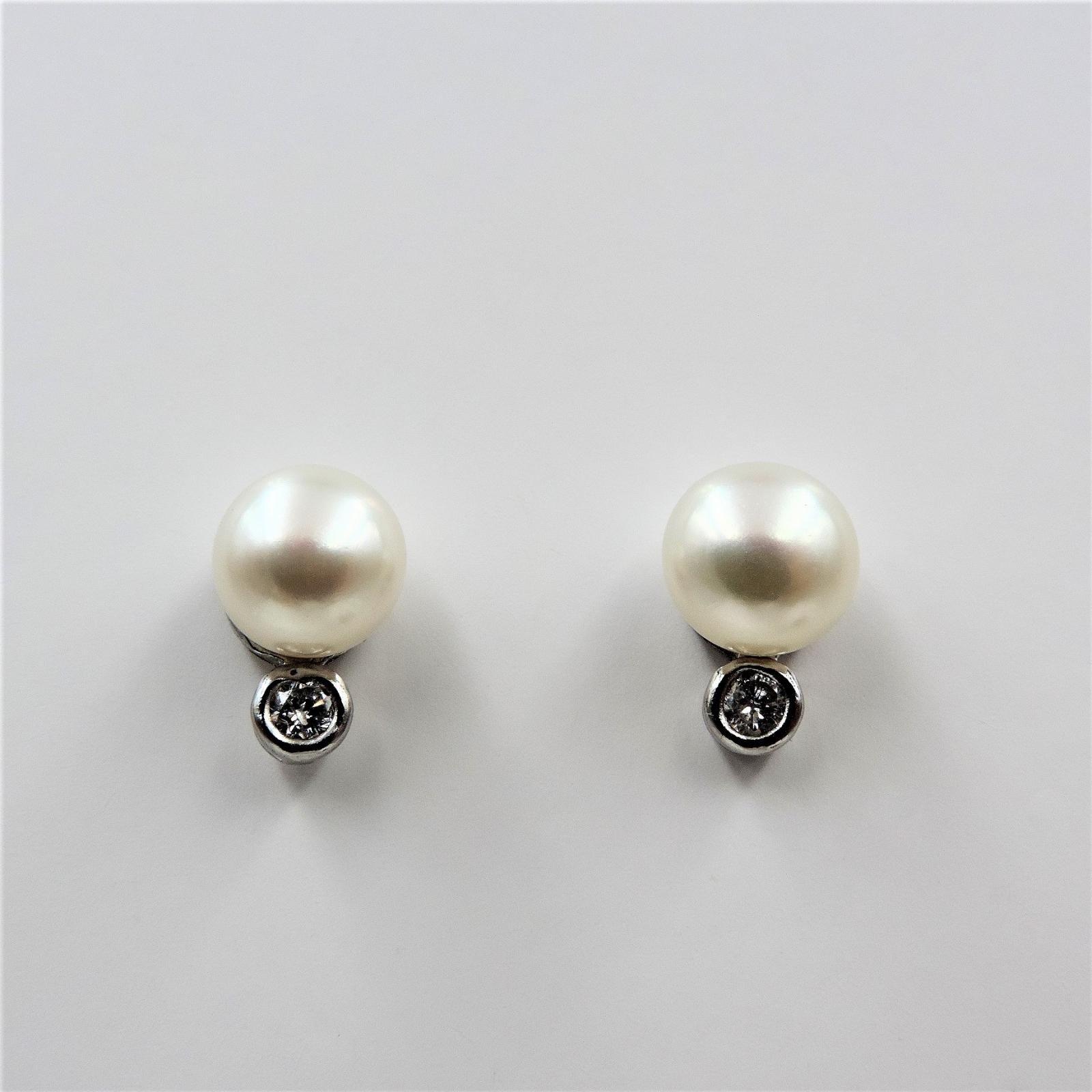 10577b6b3703 Pendientes Tu y YO de plata con perlas cultivadas blancas de 8mm 23 ...
