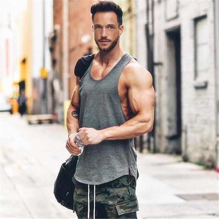Golds Gym Mens Sleeveless Workout Training Tank Top Stringer Vest New Gym Tank
