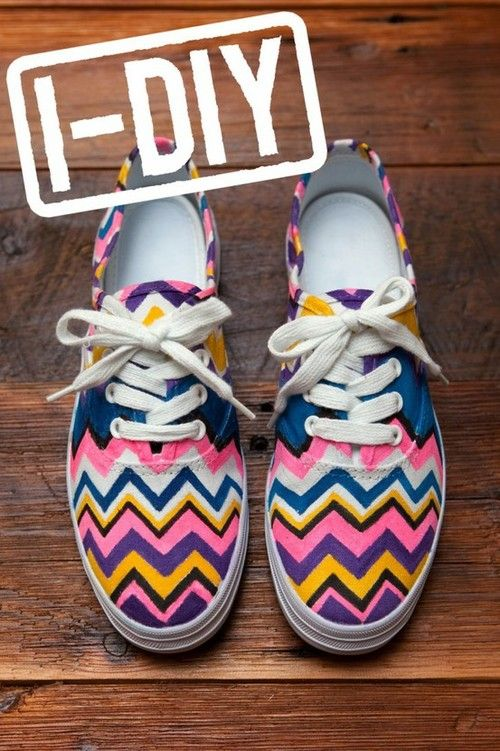Diy Shoe Design Adorable Chevron Shoes Diy Fashion
