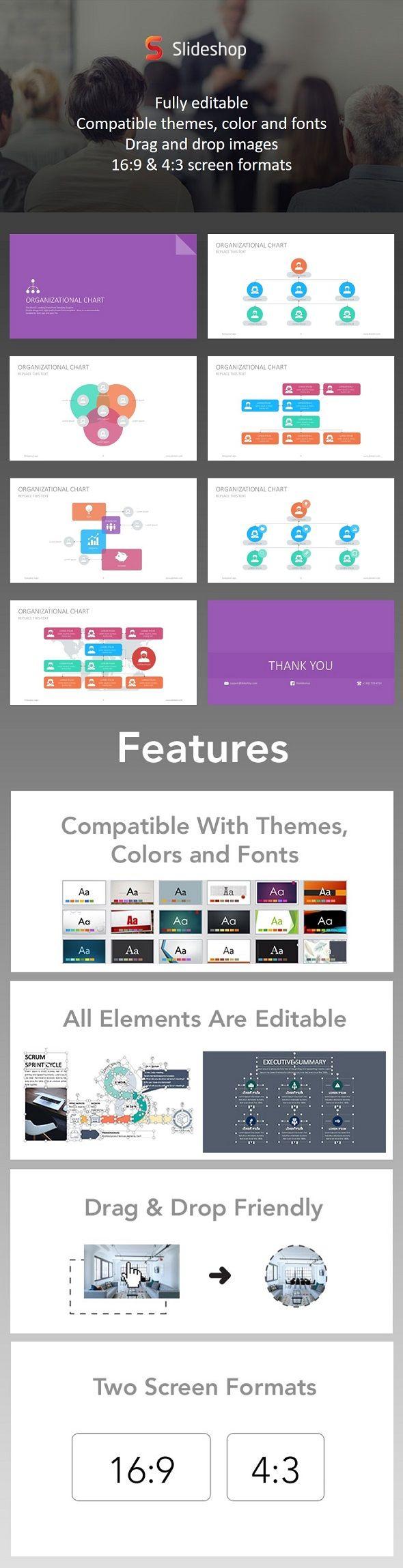 organizational chart google style | presentation templates, font, Presentation templates