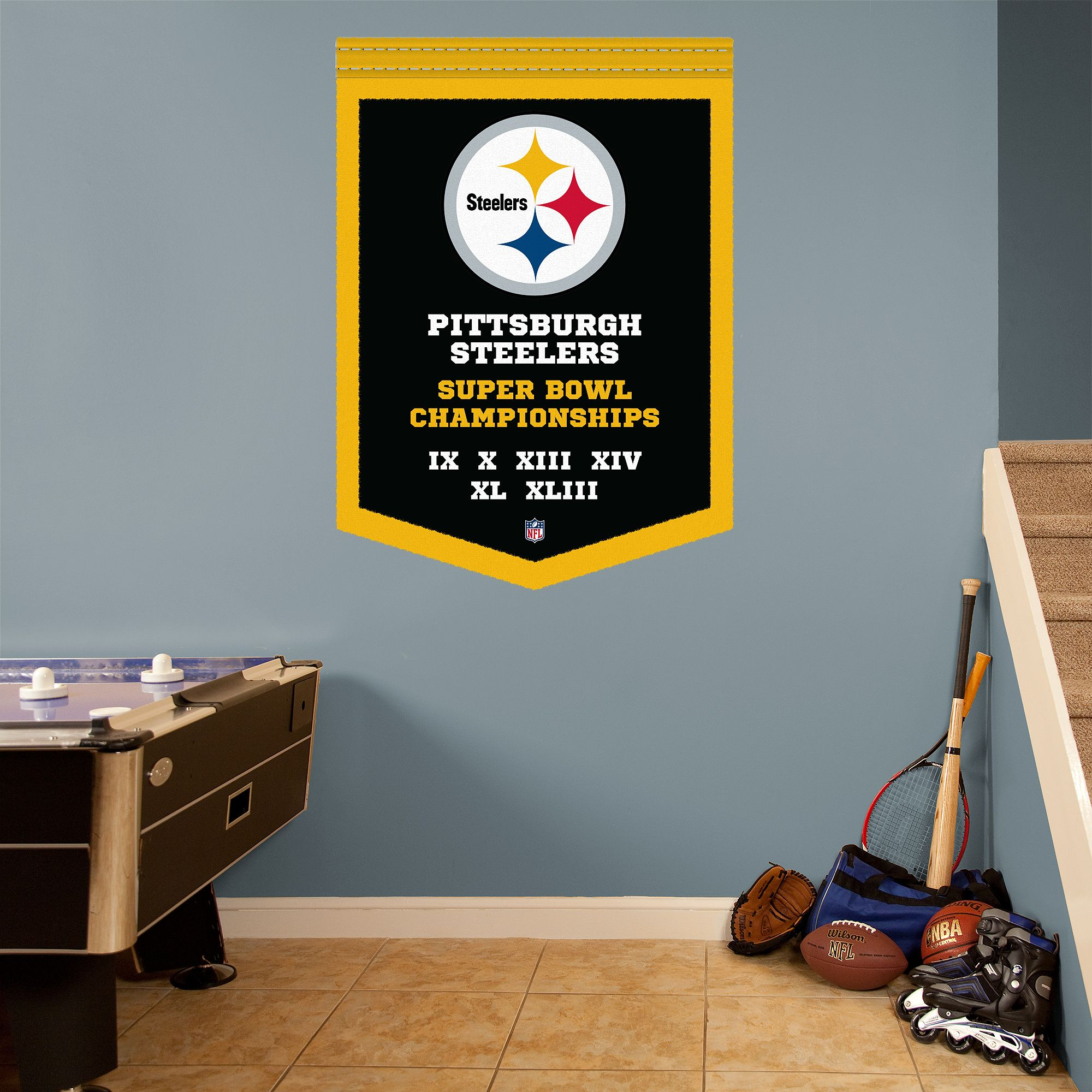 Pittsburgh Steelers Super Bowl Champions Banner Giant Nfl