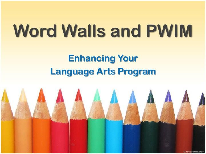 Word Walls and PWIM Portable word walls, Daily activities and - agenda word