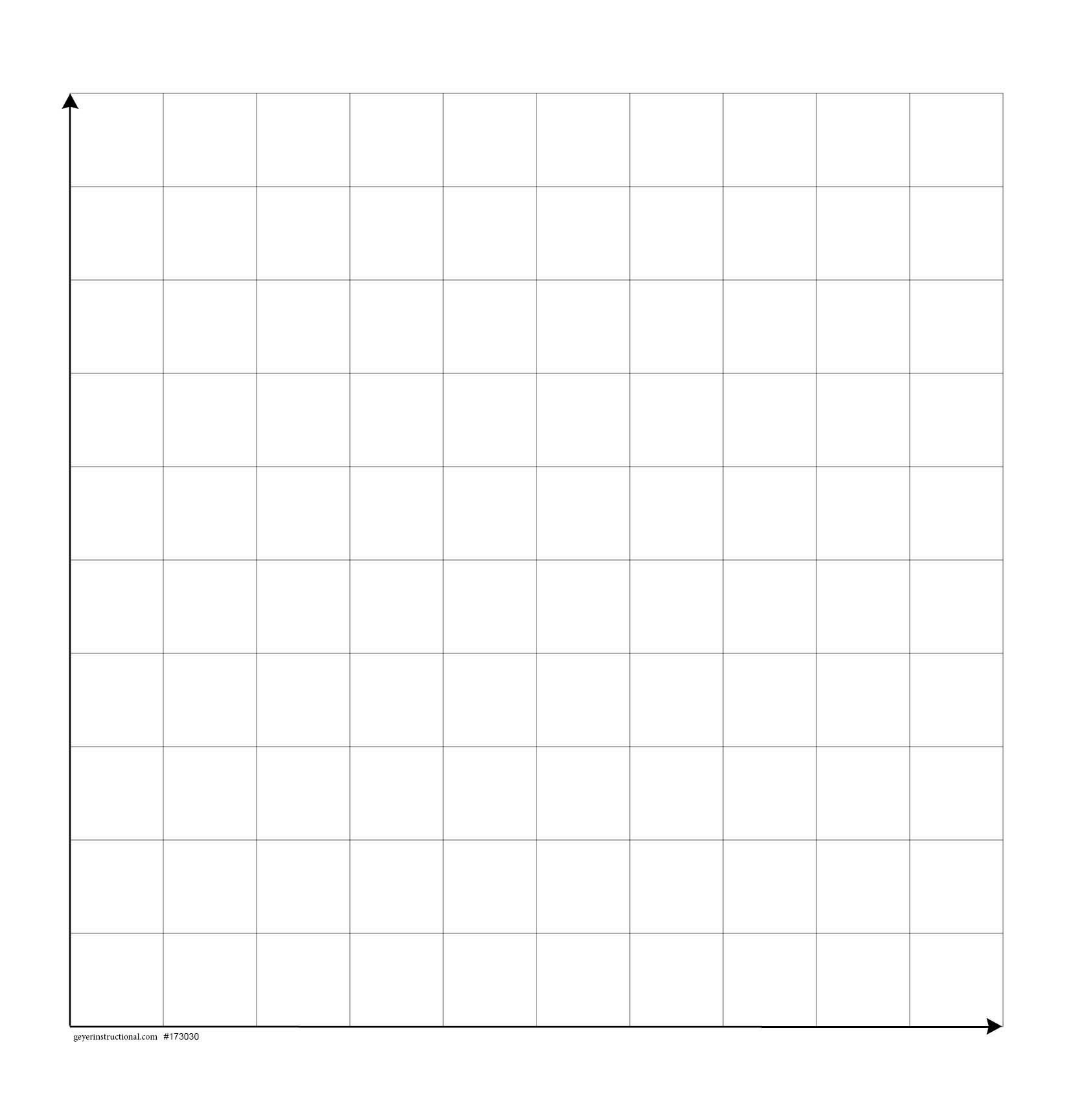 Dry Erase Magnetic Graph   X  Squares St Quadrant  Math In