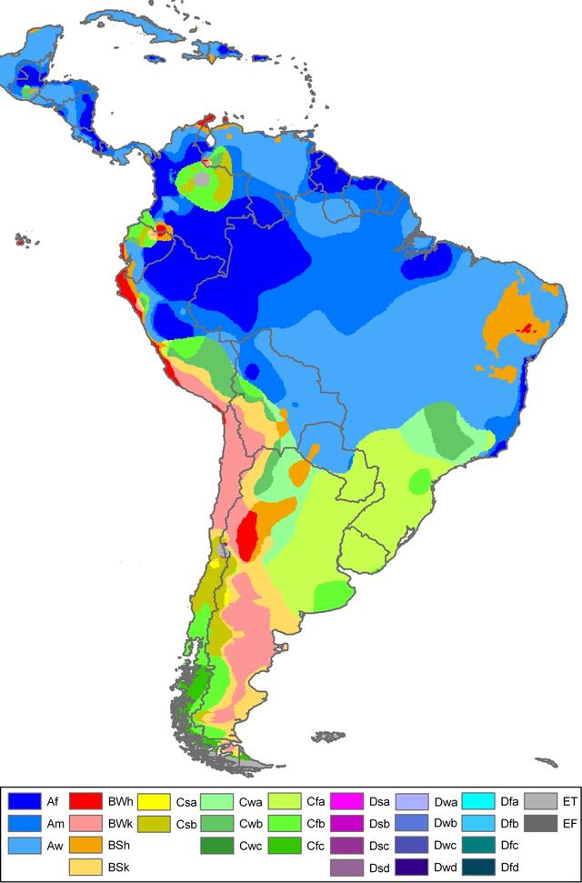 South-America Koppen Map - Köppen climate clification - Wikipedia on