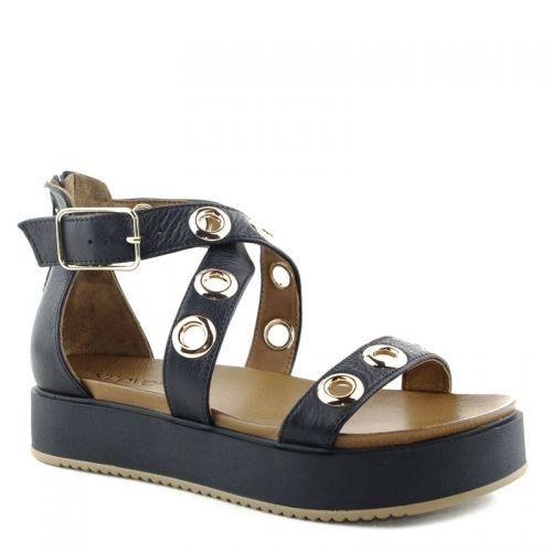Sandales Avec Inuovo Ceinture Noire 9z5RAlE
