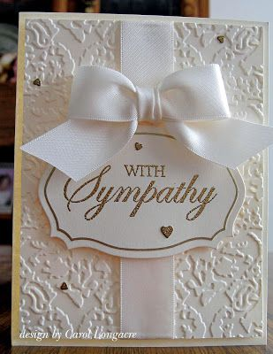 Our Little Inspirations: Sympathy in Vanilla | cardmaking | Pinterest