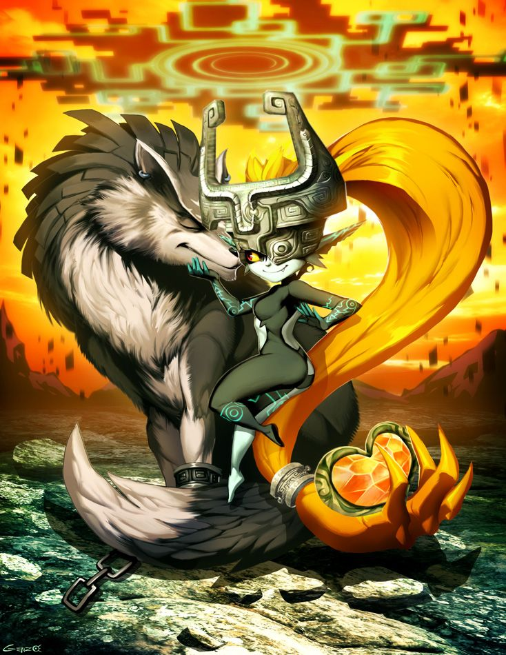 Hi Guys This Is Valentine S Day Commission Done Long Time Ago But Was Lost Since My Hdd Died T Legend Of Zelda Midna Twilight Princess Legend Of Zelda Breath