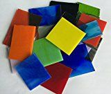 1 Lb.Mixed Bullseye Fusible Glass Sampler Pack  COE -90  Perfect for Making Kiln Formed Jewelry!