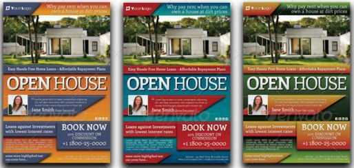Open House Flyers With Financing Options  Open House Flyer Ideas