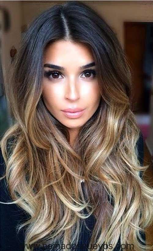 largo ondulado peinado - Peinados Ondulados
