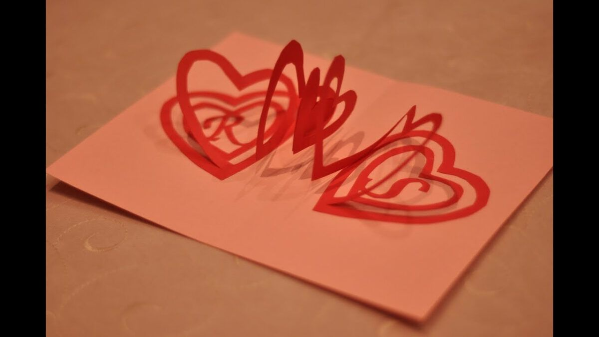 How To Make A Valentine S Day Pop Up Card Spiral Heart Intended For Twisting Hearts Pop Up Card In 2020 Heart Pop Up Card Pop Up Card Templates Pop Up Valentine Cards