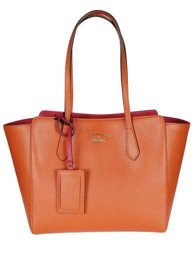 0e78fcf93f18f7 GUCCI Gucci Swing Small Leather Tote. #gucci #bags #leather #hand bags  #lining #tote #cotton