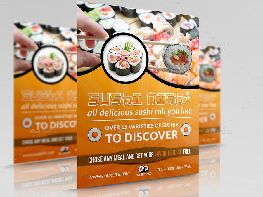 Sushi Restaurant Flyer Sushi restaurants and Restaurants - restaurant flyer
