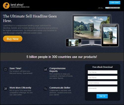 Best Landing Page Templates Want More Sales Splash Magazine - Splash page template