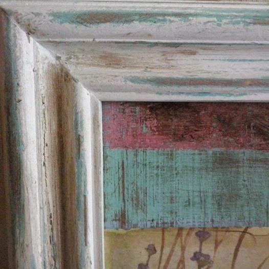 Mi nube deco marcos decapados y patinados carpinter a - Pintura para espejos ...