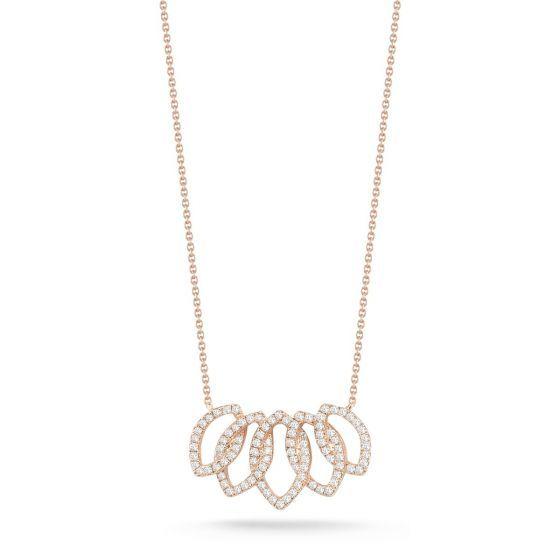 LORI PAIGE Rose Gold Diamond Necklace danarebecca diamonds
