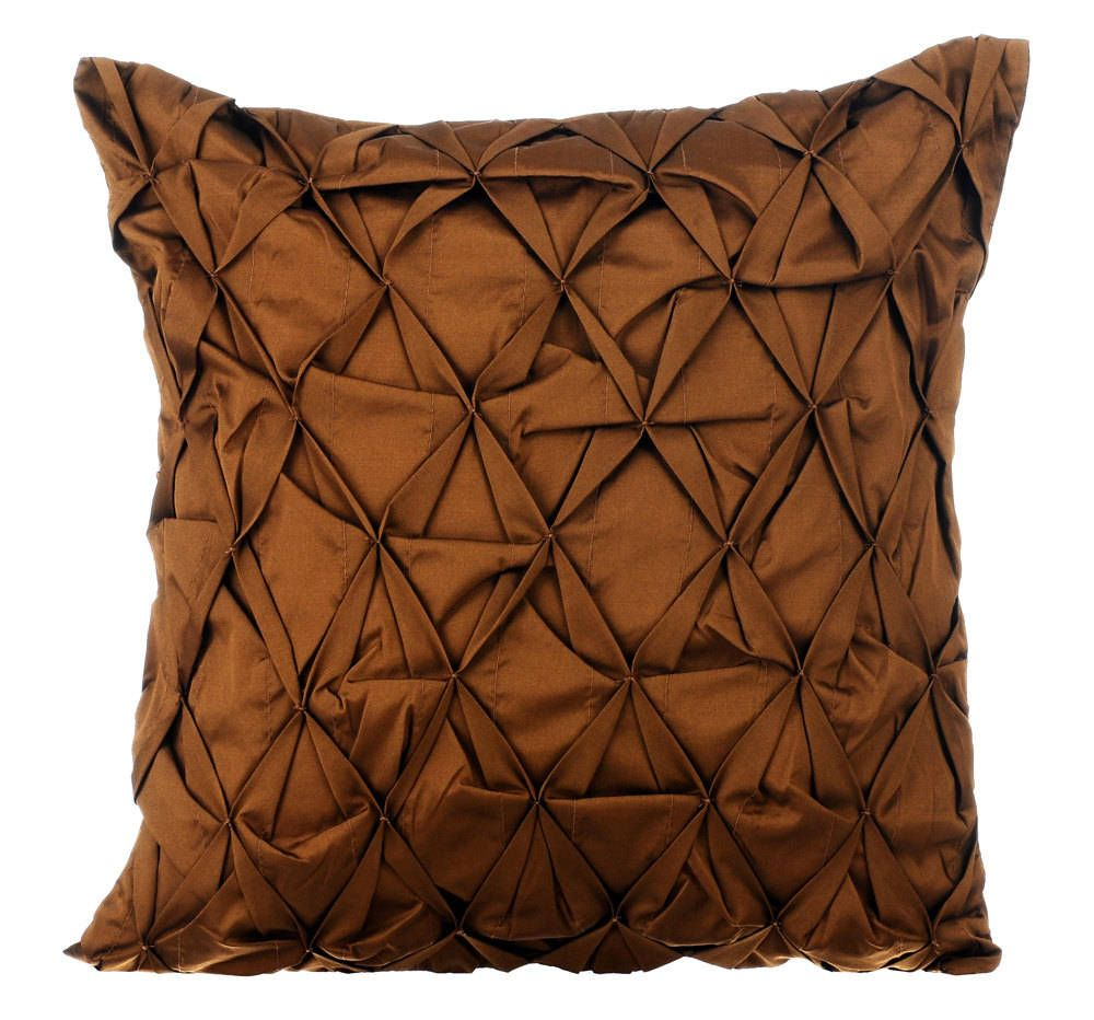 Brown Couch Pillow Cover 12x12 Faux