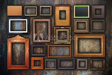 Grunge Wall Full Of Old Frames Custom Picture Frame Gallery