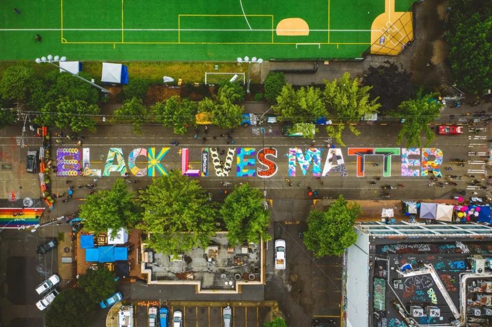 How To Paint Street Murals Tips From Dc Make Street Mural Exterior Murals Black Lives
