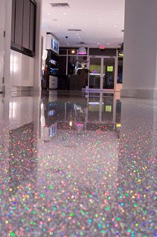 Holographic Floor Salon Design Glitter Floor Home